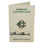 Sam Snead Signed Oakmont Country Club Scorecard JSA ALOA