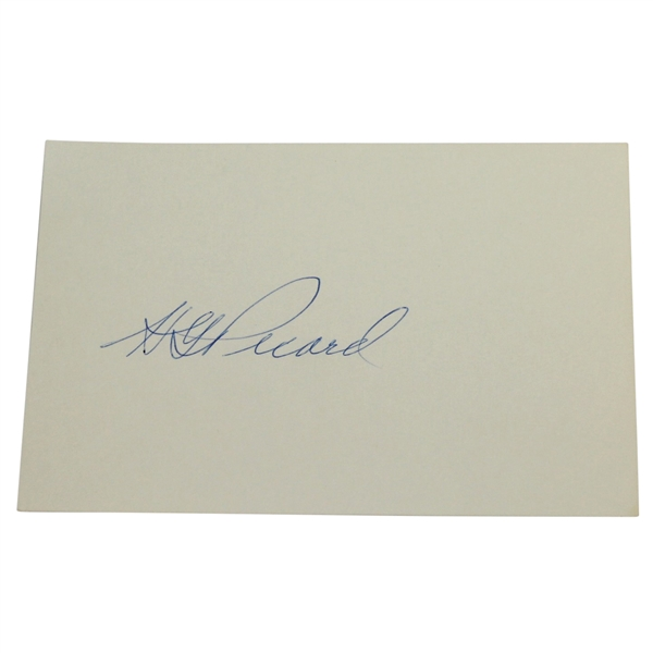 H.G. Pickard Signed Index Card JSA ALOA