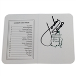 Jordan Spieth Signed  Augusta National Golf Club Scorecard - Full Signature JSA ALOA