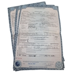 Eight Copies of Ben Hogans Death Certificate