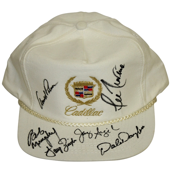 Arnold Palmer, Lee Trevino & Others Signed Classic Cadillac Golf Hat JSA ALOA