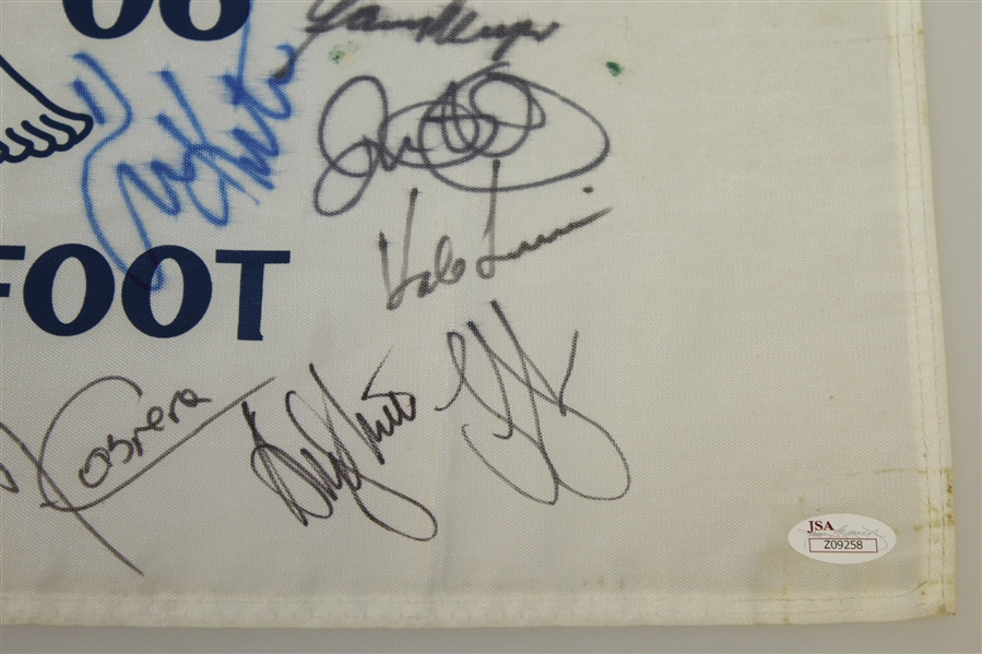 Signed US 2006 US Open Flag - Arnold Palmer, Ray FLoyd, Gary Player & 23 Others JSA AOLA