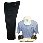 Tom Watson Course Worn Shirt (w/Photo Match), Pants, Shoes, & Signed Hat JSA ALOA