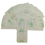 Twenty Ben Hogan Signed Shady Oaks Country Club Member Checks/Receipts JSA AOLA