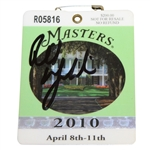 Phil Mickelson Signed 2010 Masters Tournament Badge #R05816 - JSA #V73038