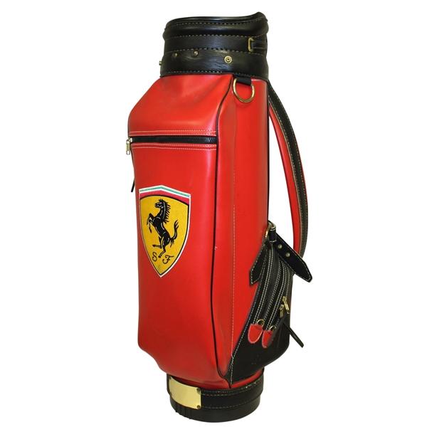 Lot Detail Ferrari Golf Bag Classic Ferrari Color Scheme