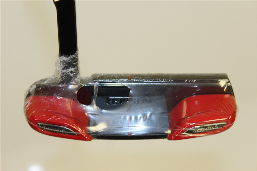Unused Cobra Ltd Ed Putter w/ Tungsten Weighting, Leather Grip, and Head Cover - Ferrari