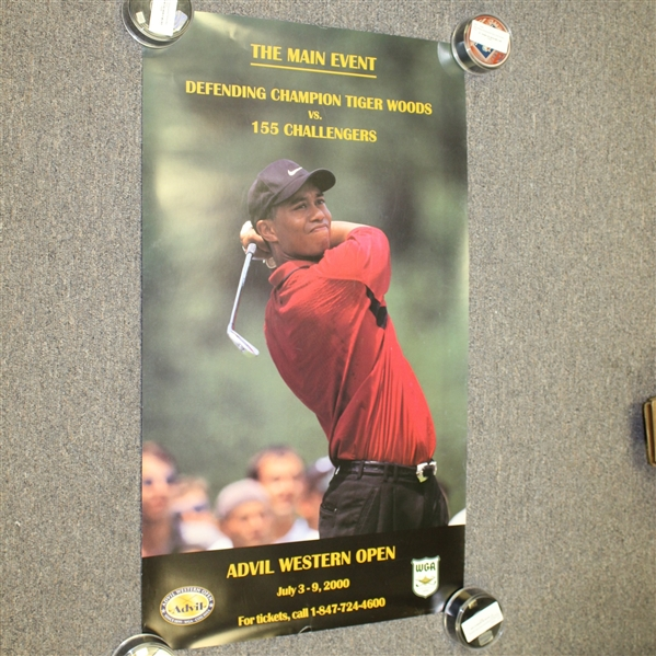 2000 Advil Western Open Poster Featuring Tiger Woods