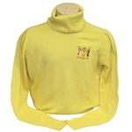 Ray Floyds 1981 Ryder Cup USA Team Issued Cashmere Uniform Yellow Sweater