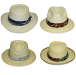 Four Don Cherry Personal Kangol Fancy Wide Strap Golf Hats - Blue, Red, Purple, & Multi