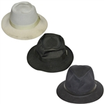 Three Don Cherry Personal Kangol Golf Hats - White, Black, & Black