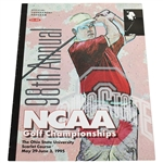 1995 NCAA Golf Championships Program - Tiger Woods Freshman Year & Placed 5th