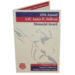 1995 AAU James E. Sullivan 65th Annual Memorial Award Dinner Program - Tiger Finalist