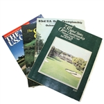 1973, 1983, 1984, & 1986 US Open Championship Official Programs