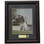 Ray Floyd Signed Masters Shot Display with Notation - Framed JSA ALOA