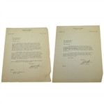 Robert F. Goheen Signed Two Letters to Charles Price JSA ALOA