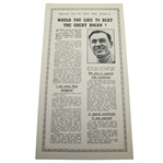 Would You Like to Beat Ben Hogan? Daily Mail Advertisement Reproduction