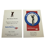 Two Ben Hogan Award Programs and Menus - 2004 & 2005