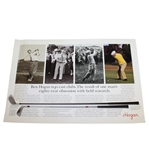 Two Ben Hogan Company Advertisements - H40 Cast Clubs and 90+ Golf Balls