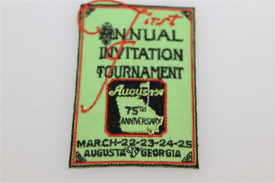 Augusta First Annual Invitation Tournament 75th Anniversary Watch with Patch in Box