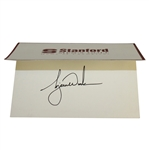 Tiger Woods Signed Stanford Mens Golf Home of Champions Card JSA ALOA