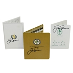 Jack Nicklaus Signed Shoal Creek, Memorial, & Ackerman Hills Scorecards JSA ALOA