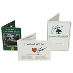 Jack Nicklaus Signed Canterbury GC, Oak Hill CC, Sycamore Hills, Scorecards JSA ALOA