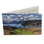Jordan Spieth Signed 2015 US Open at Chambers Bay Scorecard JSA ALOA