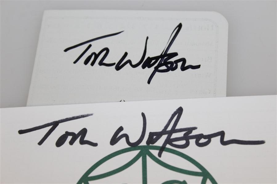 Lot Detail - Tom Watson Signed Muirfield Village GC & Kansas