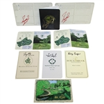 Masters Champs Signed Scorecards - Casper, Zoeller, Goalby, Aaron, Mize, & Couples JSA ALOA