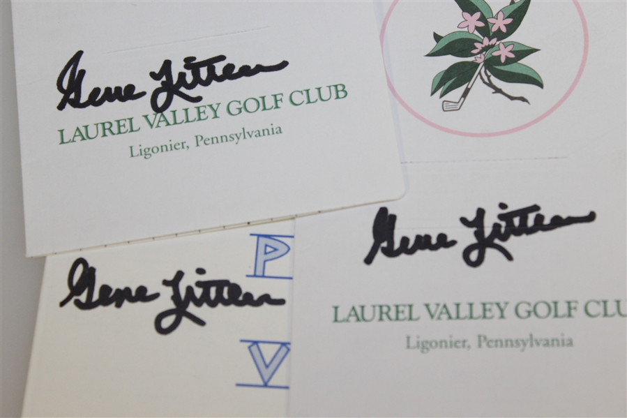 Gene Littler Signed Pauma Valley CC & Two Laurel Valley GC Scorecards JSA ALOA
