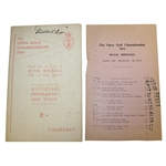 1954 The Open at Royal Birkdale Official Thursday Programme & Drawsheet - Peter Thomson Winner