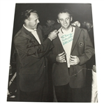 Arnold Palmer & Art Wall Signed Matted Green Jacket Photo to Doug Sanders PSA/DNA #AG01103