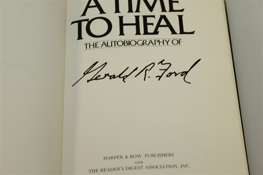 President Gerald Ford Signed 'A Time to Heal' Autobiography to Doug Sanders PSA/DNA #AG00111