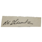 Reginald A. Whitcombe Signed Cut - 1938 Open Winner & 1935 Ryder Cupper JSA ALOA