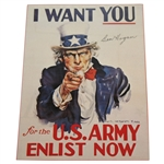 Ben Hogan Signed Uncle Sam I Want You for the US Army Now WWII Poster Page JSA ALOA