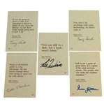 Littler, Charles, Trevino, Ford, & Bolt Signed 4x6 Golf Quote Cards JSA ALOA