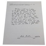 Errie Ball Signed & Handwritten Response About Playing in 1934 Masters with Jones JSA ALOA