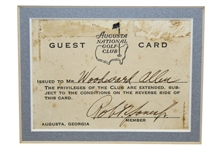 "Robert ""Bobby"" T. Jones Jr. Signed Augusta National GC 1933 Guest Card-ONLY KNOWN, SPECIAL OPPORTUNITY"