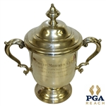 1960s Philip Morris Cup Caracas, Ven. Open Inv. Sterling Silver Loving Cup Trophy With Lid