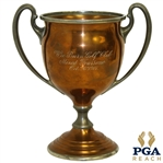 1907 Wee Burn Golf Club Mixed Foursome Reed & Barton Copper Plate Pewter Loving Cup Trophy