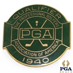 1940 PGA Championship @ Hershey C.C. Contestant Badge - Byron Nelson Winner - NRMT W/Seldom Seen Original Packaging