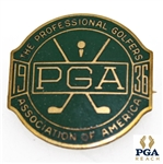 1936 PGA Champ. @ Pinehurst C.C. Contestant Badge - Denny Shute Win - NRMT, W/Seldom Seen Original Packaging!