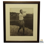 Jock Hutchison Oversize George Pietzcker Golf Swing Photo - Framed - Excellent Condition