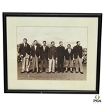 1947 Masters Winners Photo with Smith, Nelson, Picard, Demaret, Wood, Sarazen & Keiser