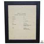 Arnold Palmers D6 Driver Specifications Sheet - Framed