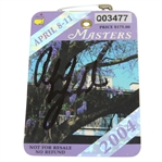 Phil Mickelson Signed 2004 Masters Tournament Badge #Q03477 - First Green Jacket JSA ALOA