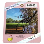 Jordan Spieth Signed 2015 Masters Badge #R07050 - Great Signature FULL JSA #Z00684