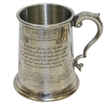St. Andrews The Old Course Pewter Golf Tankard - Made in England