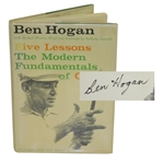 Ben Hogan Signed 1st Ed. 1957 Book Five Lessons: The Modern Fundamentals of Golf JSA ALOA